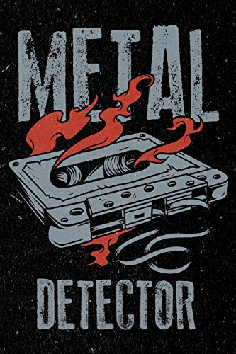 Metal Detector: Heavy Rock and Roll Music Art Sketchbook Drawing Paper For Men, Women and Kids -