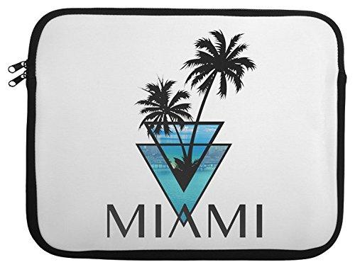 Miami Car Flag (miami triangle palms city ocean Laptop Case 13