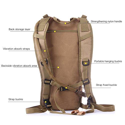 blueidea® 3L Hydration Packungen Tactical Fahrrad Camelbak Wasser Blase Tasche Assault Rucksack Camping Wandern Tasche Wasser Tasche Khaki