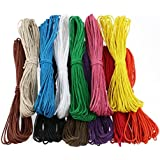 Pixnor TINKSKY 12pcs 10M 1MM ciré coton cordes cordes cordes pour la fabrication de bateaux bricolage Collier Bracelet