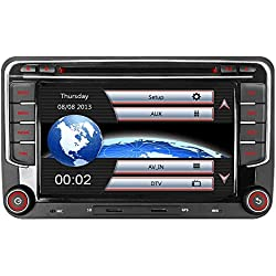 """IAUCH 7""""GPS Navigation for Car Car Stereo support Bluetooth GPS Radio Mirrorlink DAB+ WinCE Touch Screen Car DVD Player Mirror Link DAB for VW TOURAN PASSAT Scirocco Beetle Golf MK5 MK6 SEAT Skoda"""
