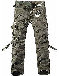 UMilk Hommes Pantalon cargo militaire d'homme Pantalons sauvages ample