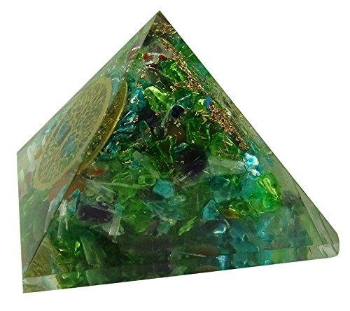 Harmonize Multistone Orgon Pyramide Tree Of Life Symbol Reiki Kristall Spirituelle Geschenk-Energie-Generator