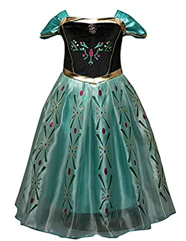 Ghope enfant fille Robe Costume Fancy Dress Anime Cosplay Princesse Adulte Jupe Soirée Dansante Cocktail Boule 06 7 ans (hauteur 140-150cm)