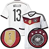 Germany Home 4 Star Müller Shirt 2014 2015