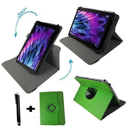 Asus Prosieben Entertainment Pad - Drehbare Tablet Schutzhülle mit Standfunktion + Touch Pen – Grün 8 Zoll 360