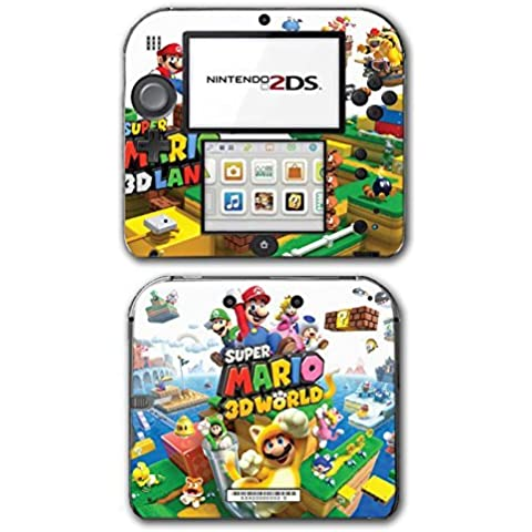 Super Mario 3D World 2 Land Mario Luigi Peach Toad Cat Suit Video Game Vinyl Decal Skin Sticker Cover for Nintendo 2DS System Console by Vinyl Skin