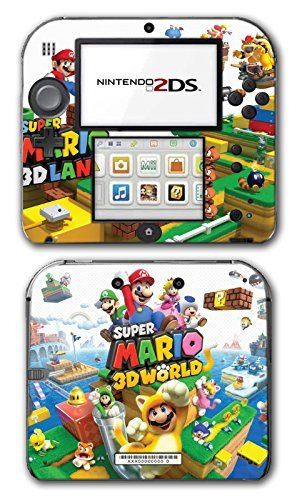 Super Mario 3D World 2 Land Mario Luigi Peach Toad Cat Suit Video Game Vinyl Decal Skin Sticker Cover for Nintendo 2DS System Console by Vinyl Skin Designs