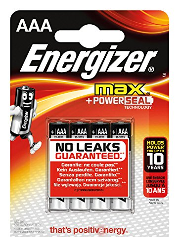 Energizer E300124200 Batterie Max Alkaline AAA (Micro/LR03 4er-Packung) -