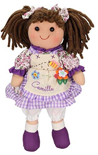 Betz Kinder Stoffpuppe CAMILLA Größe ca.30 cm Farbe lila (Camilla Stoff Set)