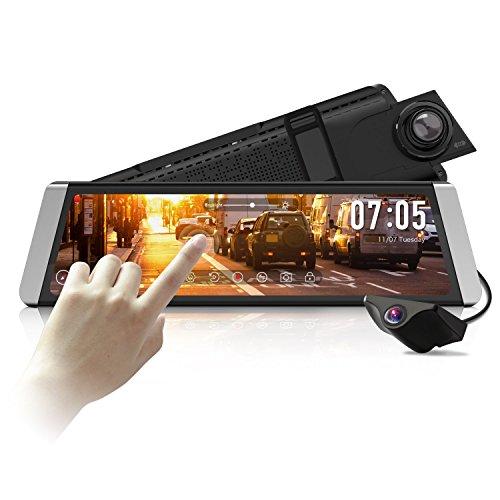 AUTO-VOX X1 DashCam Spiegel mit AHD Backup-Kamera-Kit,StreamingMedia 9,88''FullTouchScreen,...