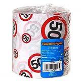 Toilettenpapier 25 Meter mit Verkehrschild Zahl 50