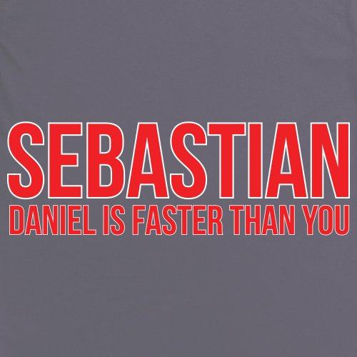 Sebastian Versus Daniel T-Shirt, Herren Anthrazit