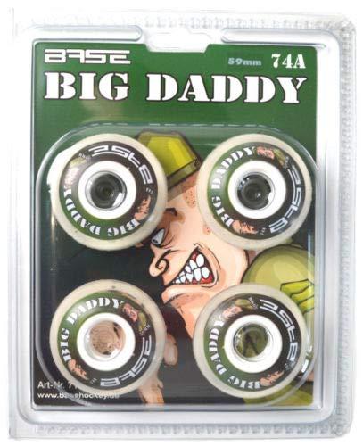 BASE Hockey Indoor Rolle 'Big Daddy' Stück, Rollengröße:72;Rollenhärte:74A 4er Set -