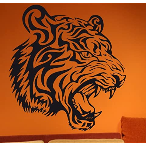 DD Dotzler diseño - 29012014-8 diseño de tigre diseño de tigre de pared - 40 x 43 cm - 14 colores a elegir - León Wall tatuaje Wall pegatinas para pared