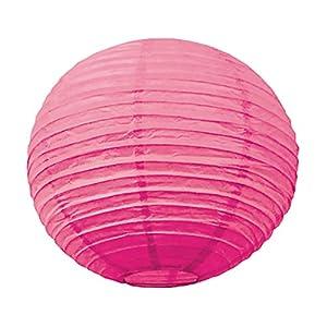 Tim & Puce 50210L - Farolillos japoneses (50 cm), diseño de Burbujas, Color Rosa