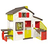 Smoby Children Kids Large Outdoor Garden Play House Picnic Table Activity Play Set