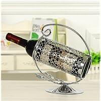 supporto bottiglia vino cremagliera vetro argento coppa base
