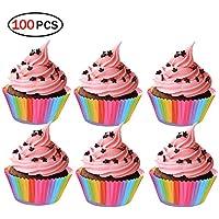 Hemore Moldes Papel Copa de Horneado,100 PCS Cupcake Cases para Magdalenas,Muffins,
