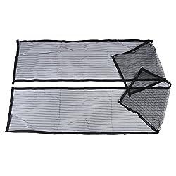 TOOGOO(R) Hands-free Magic Mesh Magnetic Screen Door Curtain Anti-Mosquito/Bug Black