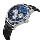 PARNIS Complication 2111 Automatik Herrenuhr Edelstahl-Armbanduhr Lederarmband MIYOTA Schnellschwinger Kaliber 9100 mit Vollkalender und Gangreserve-Anzeige - 3