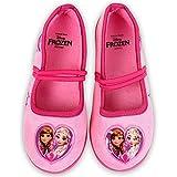 Disney Frozen - Hausschuhe Laufschuhe für Mädchen - Ballerinas pink Anna und ELSA (30 EU)