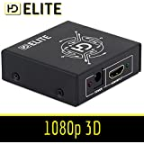 HDElite - Splitter HDMI 2 ports 1.3 1080P 3D - repartiteur - 1 source HDMI vers 2 ECRANS - FULL HD 1080p - 3D
