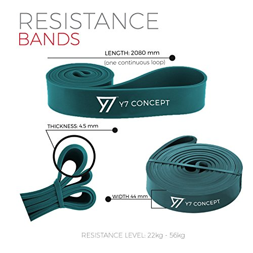 Y7-Concept-Resistance-Bands--Assisted-Pull-Up-Bands--Exercise-Bands-for-Men-Women--Workout-Bands-Long-for-CrossFit-Powerlifting-Mobility-Bands-One-Band-Green-50-125lbs