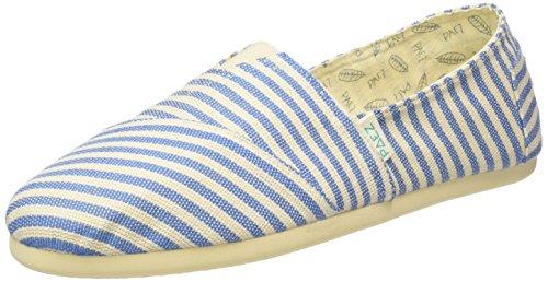 PaezOriginal Eva Surfy Argentina - Espadrillas Unisex - Adulto , Multicolore (Mehrfarbig (White, Blue 0065)), 44