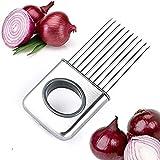 LifeJoy Zwiebel Halter Gemüse Kartoffel Cutter Slicer Gadget Edelstahl-Gabel-Slicing Geruch Entferner-Küche-Werkzeug-Hilfe-Gadget Chopper Cutting