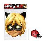 Cat Noir von Miraculous Single Karte Partei Gesichtsmasken (Maske) Enthält 6X4 (15X10Cm) starfoto