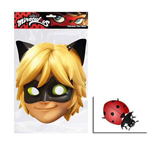 Cat Noir von Miraculous Single Karte Partei Gesichtsmasken -