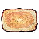 qianqian QIAN Persönlichkeit Kreativ Alte Baumringe Teppich Schlafzimmer Wohnzimmer Couchtischmatte Wasseraufnahme Türmatte Rutschfeste Matte,60 * 90cm
