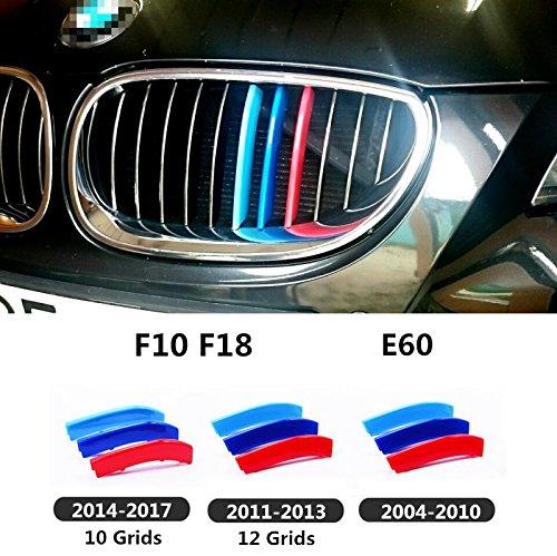 M Power Nieren Kühlergrill Grill Schnalle Farbe Streifen Dekorieren BMW 5er Reihe E60E61m5,11Bars 2004–2010Stil (X-stil-crossover)