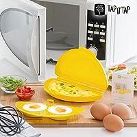 Microwave Omelette Maker! Recipiente per preparare gustose omelette e frittate con accessorio per cuocere uova in camicia o all'occhio di bue nel forno a microonde!