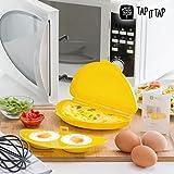 Microwave Tortilla Maker. Recipiente para hacer gustose Tortilla y frittate con accesorio para hacer huevos de camisa o al ojo de buey en el horno a microondas.
