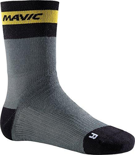 Mavic Ksyrium Elite Thermo Winter Fahrrad Socken grau/schwarz 2017: Größe: M (39 42)