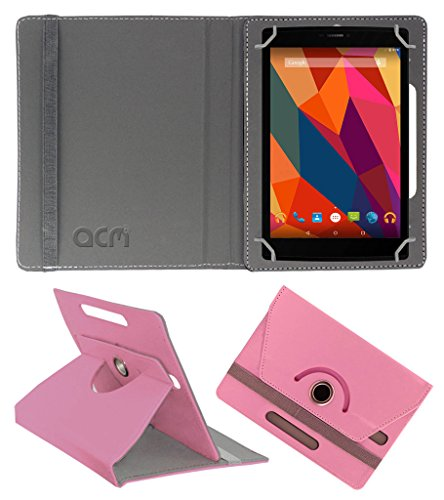 Acm Rotating 360° Leather Flip Case for Micromax Canvas Tab P680 Cover Stand Light Pink  available at amazon for Rs.159