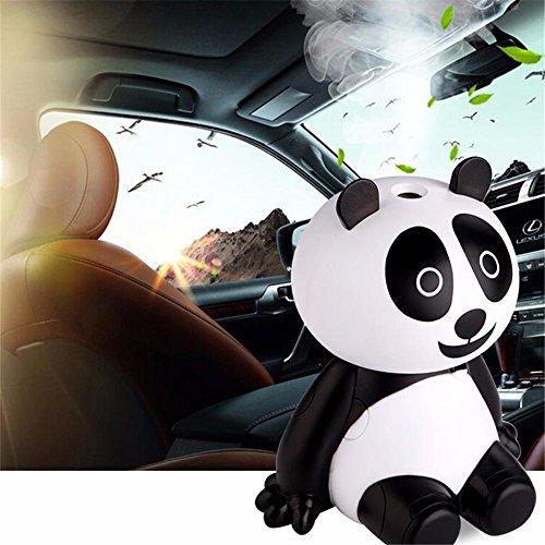 USB Humidificador Micro Lindo Mini Panda Humidificador Aromaterapia Difusor de aceites Esenciales con Luz LED Humidificador (Blanco)