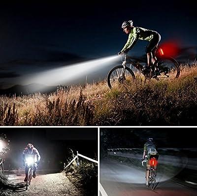 Smart Fahrrad Licht Set USB aufladbare Fahrrad Licht Set Super Bright Warmweiß led lampen LED Fahrrad Rücklicht, wasserdicht und einfach zu installieren und Entfernen für Kinder Herren Frauen Rad