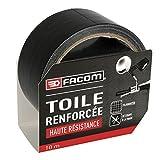 FACOM 84371 Adhésif Renforcé Haute Résistance 10 m x 48 mm, Noir