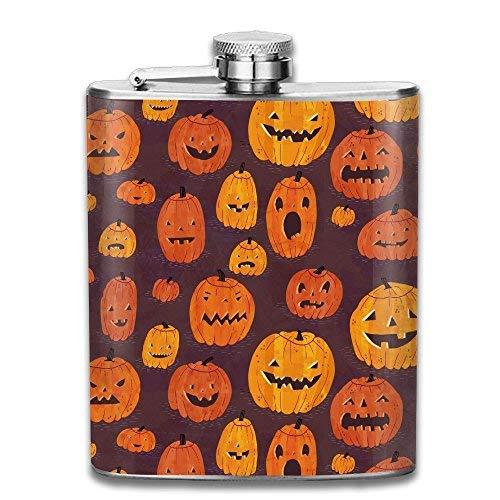 hlflasche Weinflasche Cartoon Cute Halloween Pumpkin Gifts Top Shelf Flasks Stainless Steel Flask Wine Bottle Bar Flagon Set ()