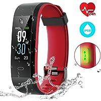 CHEREEKI Montre Connectée, Fitness Tracker Smartwatch Bracelet Connecté Podometre Tracker d'activité Etanche IP68 pour Femme Homme