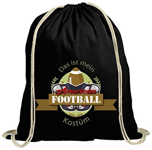 Patriot Kostüm - ShirtStreet American Football Kostüm für NFL Superbowl Fans, Größe: onesize,schwarz natur