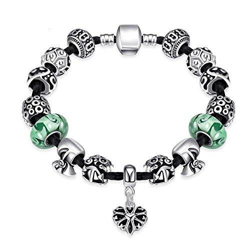 Schnalle Glas Armband, Kristall Perlen diy Schmuck (Boxen Kostüm Diy)
