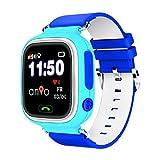 ANIO TWO WLAN Touch GPS Uhr Kinder Smartwatch / Kinderuhr / Watch / SOS Notruf / Kinder GPS Ortung / Schutz für Ihr Kind (Blau)