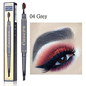 AHEFAMaquillaje Lápiz De Cejas Impermeable 5 Colores Ojos Potenciador De Cejas Tinte De Tatuaje Doble Cabeza con Pincel Marrón Gris Negro Pluma De Cejas
