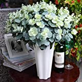 elegantstunning 16Têtes d'eucalyptus Bouquet Feuilles de Branches d'arbre Home Decor DIY Arrangement de Fleurs de Plantes