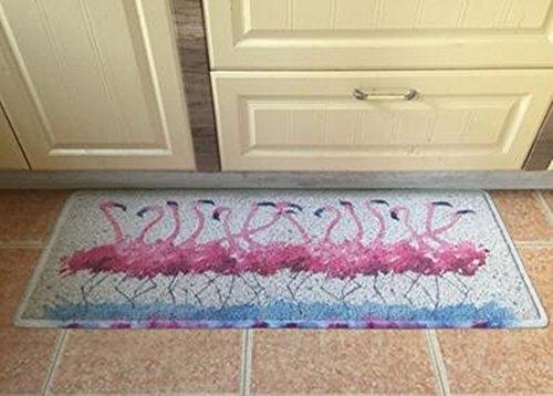 Embroidery home Felpudo puerta estilo nordico flamencos