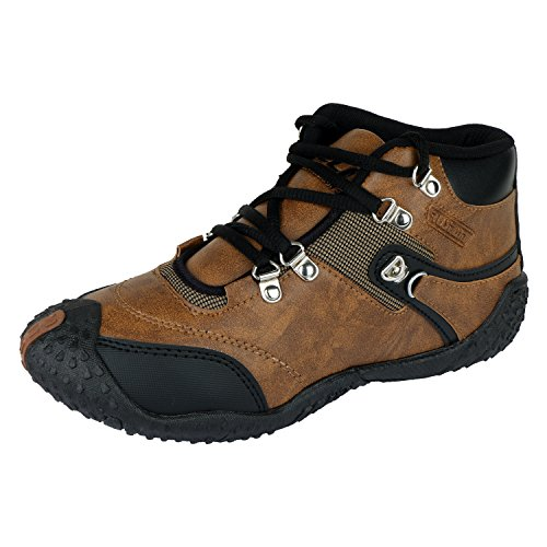 Maddy Top Quality Brown Sports Shoes For Men's In Various Sizes  available at amazon for Rs.198